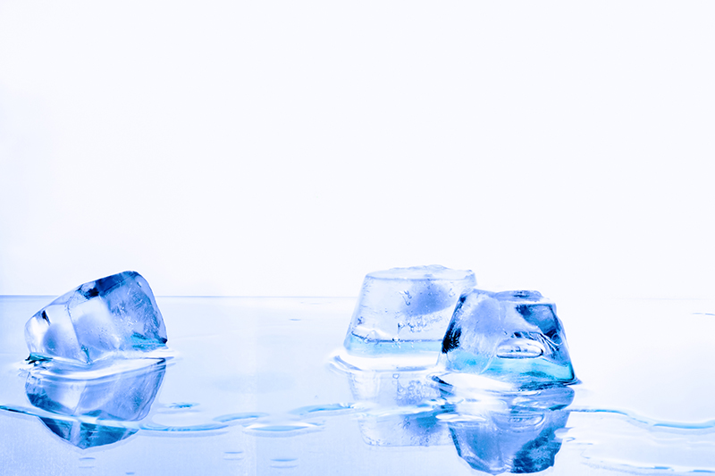 Ice Cubes In Abstract Backgrounds