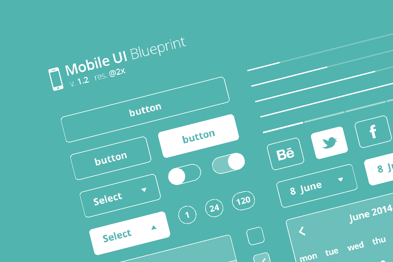 Mobile ui blueprint 12 free design resource download mobile ui blueprint 12 malvernweather Choice Image