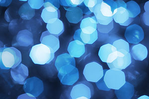 Bokeh Blue Lights