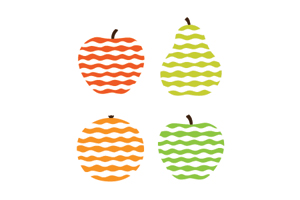 Stylized Fruit Icons