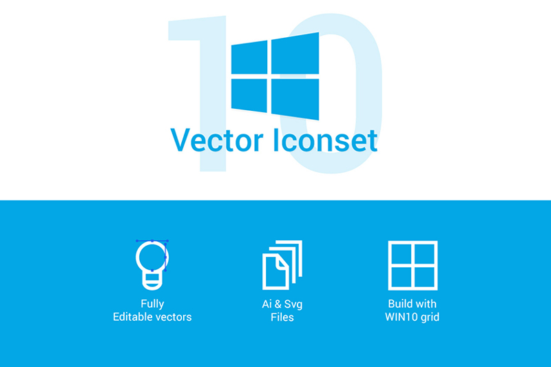 Windows 10 Vector  Icons