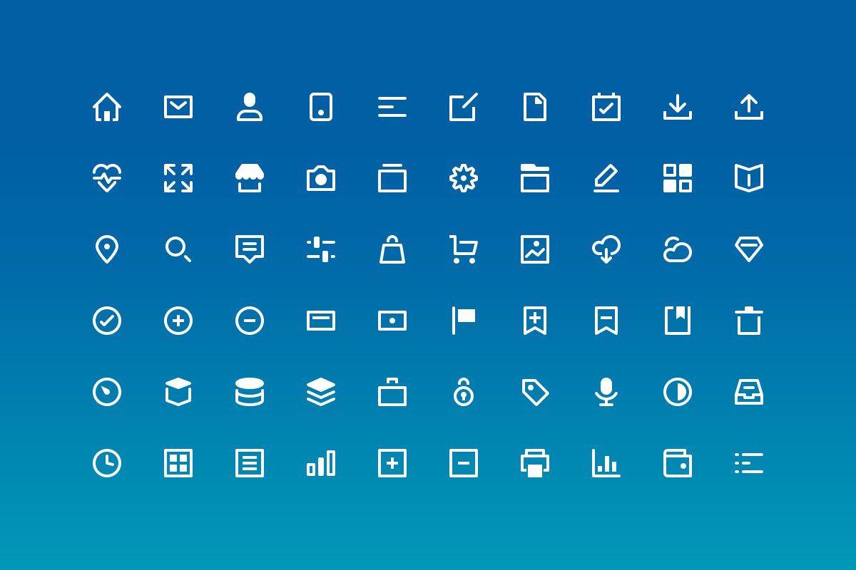Clean bi-colored icons - Bikini60s